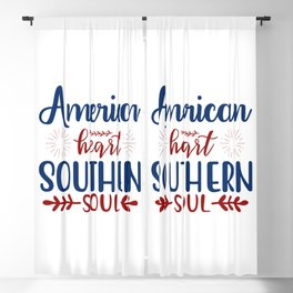American Heart Southern Soul Patriotic Blackout Curtain