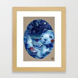 Donut Boy Framed Art Print