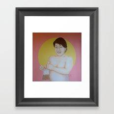 Sunshine smile Framed Art Print