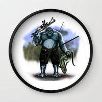hunter Wall Clocks featuring Hunter by Goldman