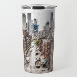 Chinatown, New York City Landscape Painting by Jeanpaul Ferro Travel Mug