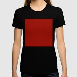 Plain Lipstick Red | Solid Color | Solid Lipstick Red | Lipstick Red T-shirt