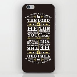 Psalm 37:4 iPhone Skin