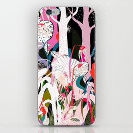 psychadelic forest iPhone Skin