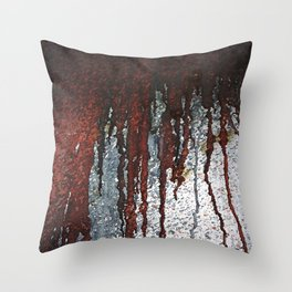 Bloody Rust Drips Throw Pillow