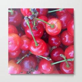 Close-up Cherries Metal Print