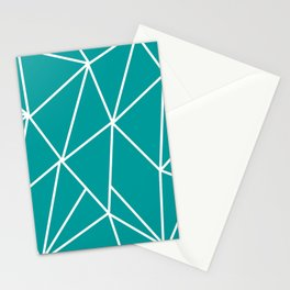 ABSTRACT DESIGN (WHITE-TEAL) Stationery Cards