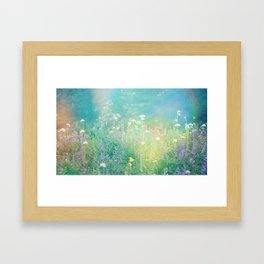 Mountain Wildflowers Framed Art Print