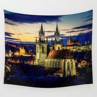 prague Wall Tapestries featuring Prague by EclipseLio