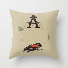 New Serif in Town Throw Pillow