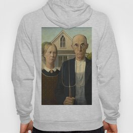 American Gothic Oil Painting by Grant Wood Hoody