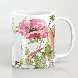 The Poppy and the Ladybug floral Coffee Mug