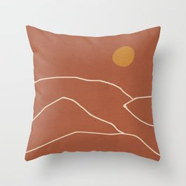 Minimal Abstract Art Landscape 2 Throw Pillow