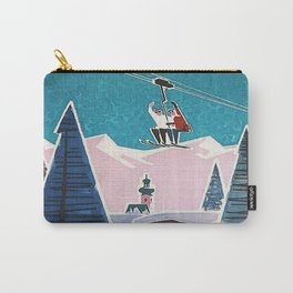 Bavaria, Germany Vintage Ski Travel Poster Carry-All Pouch
