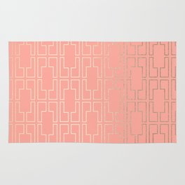 Simply Mid-Century in White Gold Sands on Salmon Pink Rug