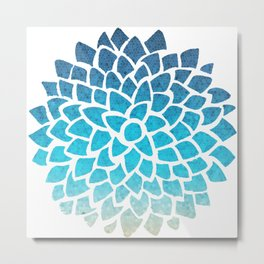 Sea Glass Dahlia Metal Print