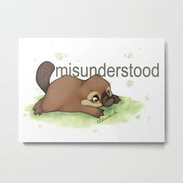 Misunderstood Platypus Metal Print