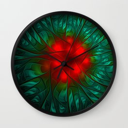 red center Wall Clock