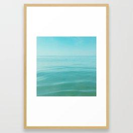 Blue Water Framed Art Print