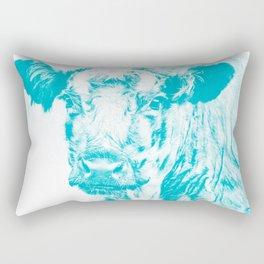 Arnamurchan Coo - Turquise Rectangular Pillow