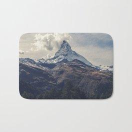 Distant Mountain Peak Bath Mat
