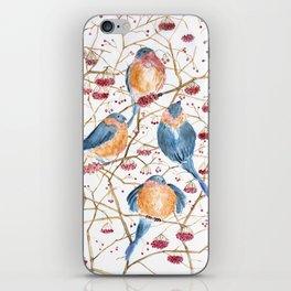 Watercolor print birds iPhone Skin