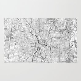 Vintage Map of San Antonio Texas (1953) BW Rug