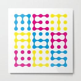 Metaballs Typography (CMY) Metal Print