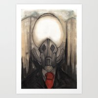 Man of Smoke Art Print