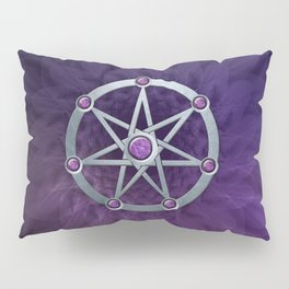 Elven star SIlver embossed with Amethyst Pillow Sham