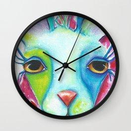 """""""Lady Llama"""" Original Painting By Deb Harvey Wall Clock"""