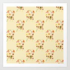 Wild orchids pattern #2 Art Print