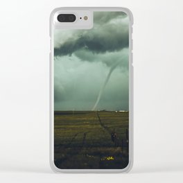Tornado Alley (Color) Clear iPhone Case