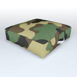 CAMO & ORANGE BOMB DIGGITY Outdoor Floor Cushion