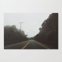 Foggy Canyon Road Canvas Print