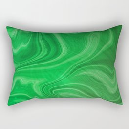 Green Swirl Marble Rectangular Pillow