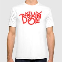 Brooklyn NY MEDIUM White Mens Fitted Tee