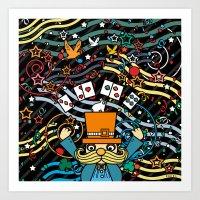 carnival Art Prints featuring Carnival by Kakel