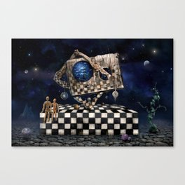 Aqua Space Canvas Print