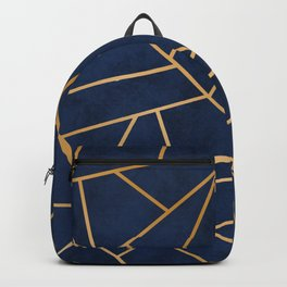 Art Deco Blue Backpack