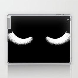 black and white eyelashes Laptop & iPad Skin