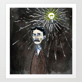 Nikola Tesla's idea Art Print