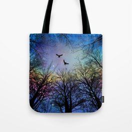 Wisdom Of The Night - Colorful Tote Bag