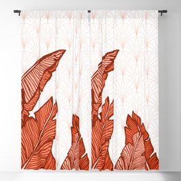 Red Tropical Leaves #society6 #decor #buyart Blackout Curtain