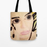 miley Tote Bags featuring It's...Miley! by VZUAL DESIGN