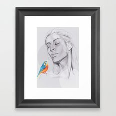 Enjoy The Silence Framed Art Print
