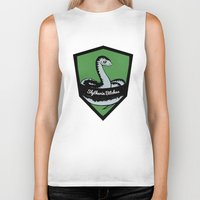 slytherin Biker Tanks featuring Slytherin Bitches! by Emma Ehrling
