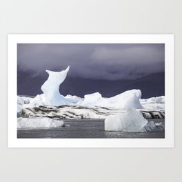 Glacier Lagoon Iceland Art Print