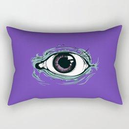 """I See You"" Purple Pattern Rectangular Pillow"