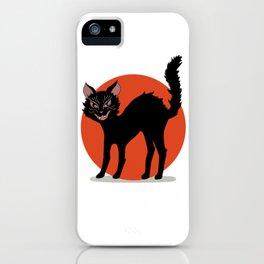 Vintage Halloween Kitty iPhone Case